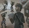 Миклухо-Маклай зарисовывает ритуалы аборигенов